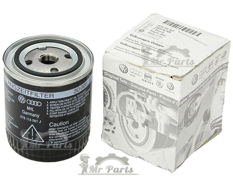 Volkswagen Audi Skoda OEM Oil Filter, 078-115-561-J, V6 Engine