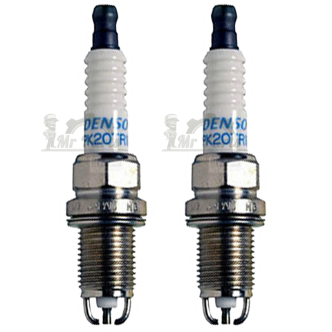 Denso PK20TR11 Double Platinum Spark Plug, Pack of 2 - 14mm Thread