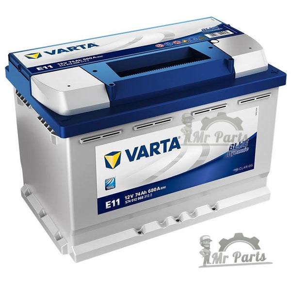 Varta Blue Dynamics 12V, 74Ah Car Battery  Details: L= 278mm, W =175mm, H =190mm.  CCA 680A (5740120683132)