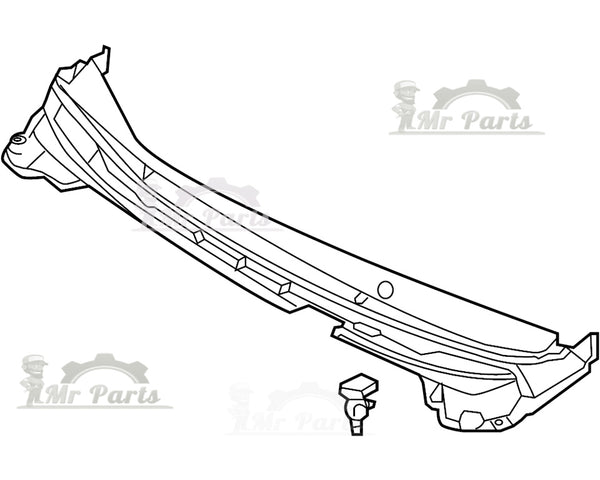 Windshield Wiper Cowl Vent Grille Panel Hood Assembly 01 1r00 31