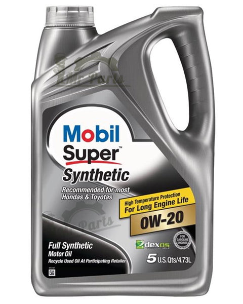 Mobil Super 0W-20 Synthetic Engine Oil, 5 Quarts