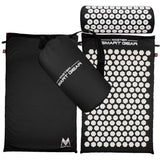 Professional Acupressure Mat And Pillow Set - Black / United States