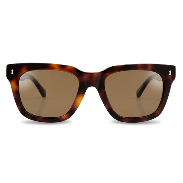Ollie Quinn Ryan polarised unisex sunglasses in Havana