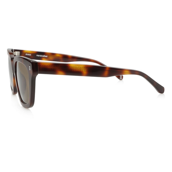 Ollie Quinn Ryan polarised unisex sunglasses in Havana side