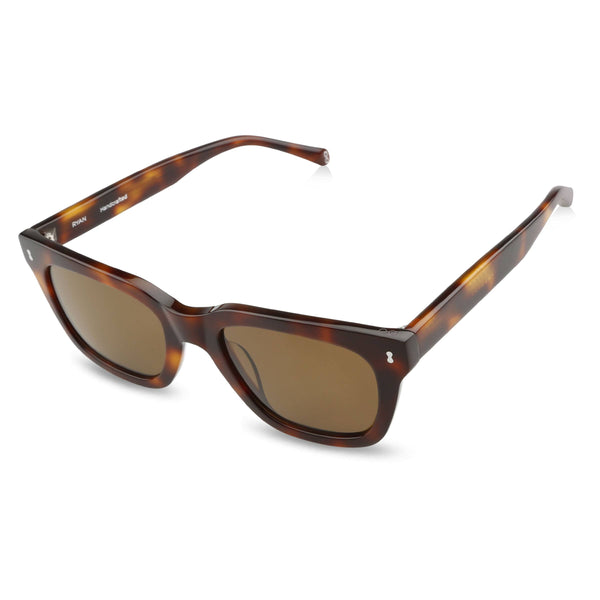Ollie Quinn Ryan polarised unisex sunglasses in Havana top