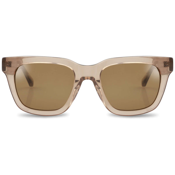 Ollie Quinn Ryan polarised unisex sunglasses in crystal khaki