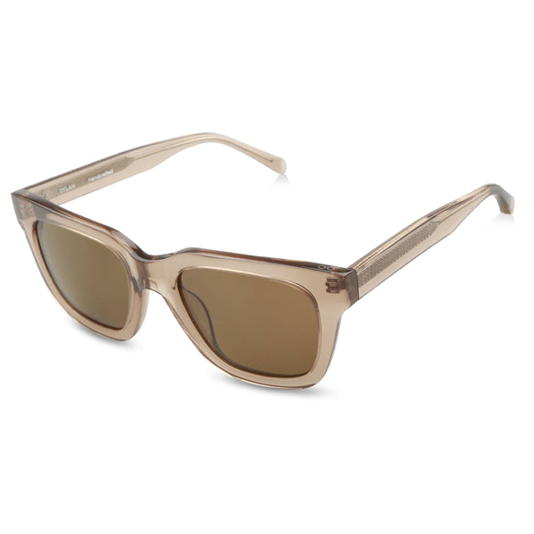 Ollie Quinn Ryan polarised unisex sunglasses in crystal khaki top
