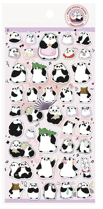 Nekoni Original Design Stickers Panda