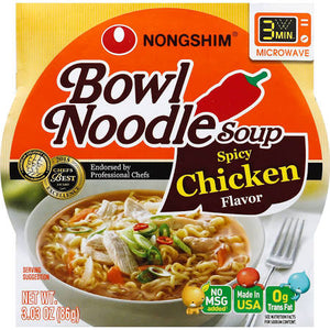 NongShim Spicy Chicken Noodle Bowl