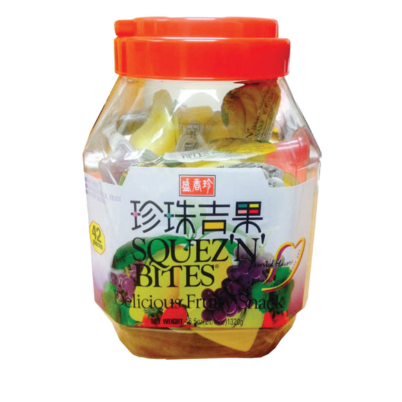 Fruits Squez'N' Bites Jelly 42pcs Bucket