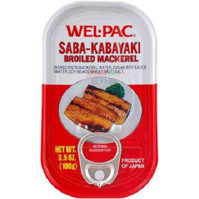WelPac Broiled Mackerel 3.5 oz can