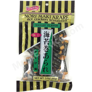 RICE CRACKER NORIMAKI ARARE WASABI 3OZ