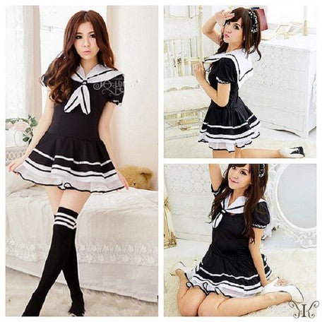 Cosplay Frill Sailor Black