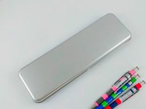 Simple Silver Pen Case