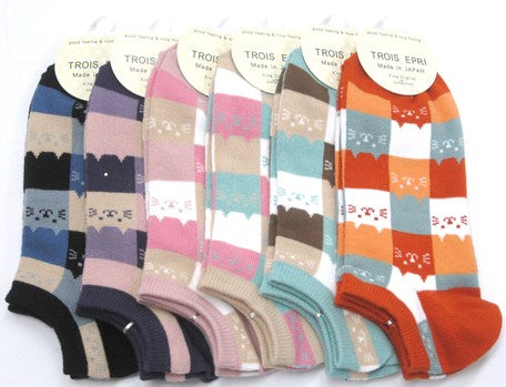 KO Trois Epri Ladies Cat Ankle Socks