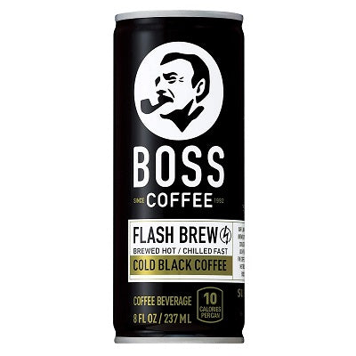 Boss Cold Black Coffee Can