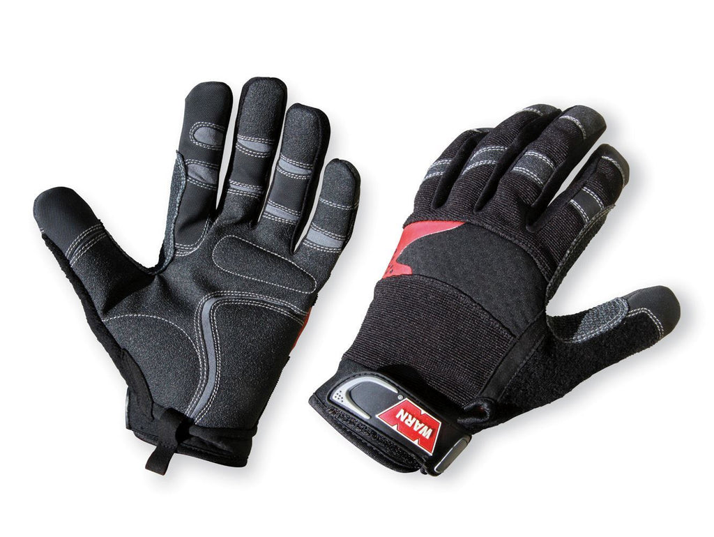 WARN XL WINCH GLOVES, BLACK -88895 - Free Shipping on orders over $100 - Venture Overland Company