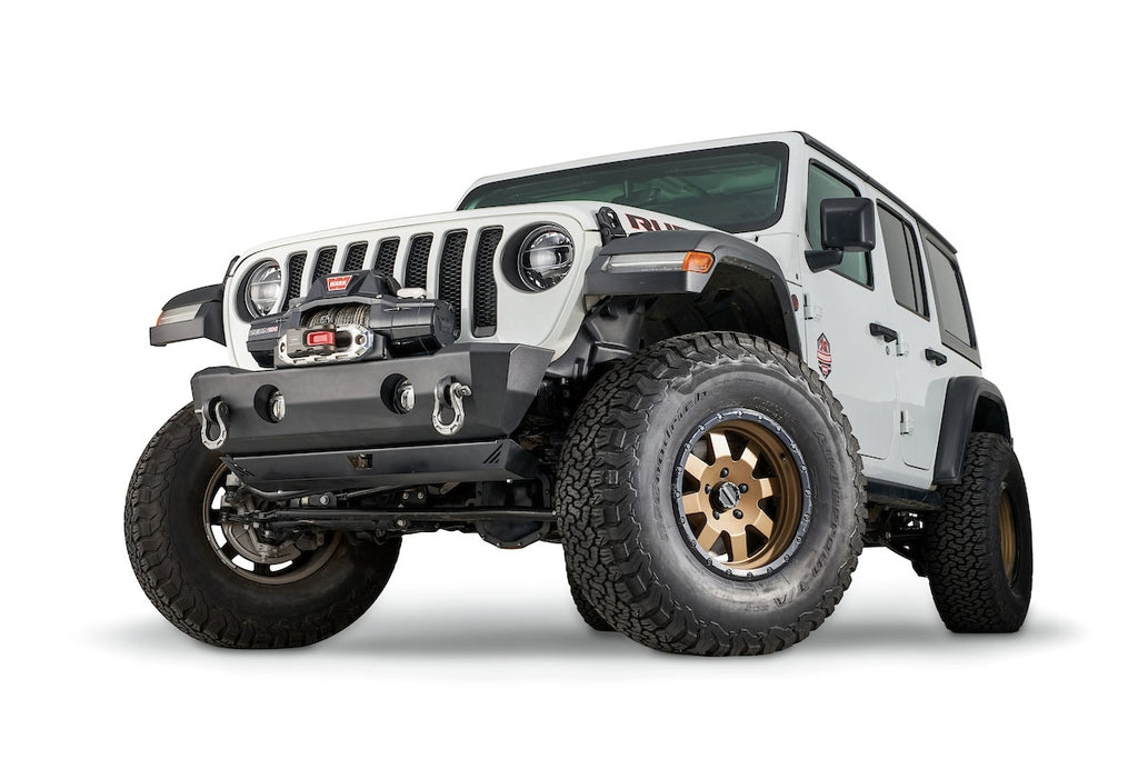WARN  STUBBY CRAWLER BUMPER WITHOUT GRILLE GUARD TUBE FOR JL, JK, & JT - 102510 - Free Shipping on orders over $100 - Venture Overland Company