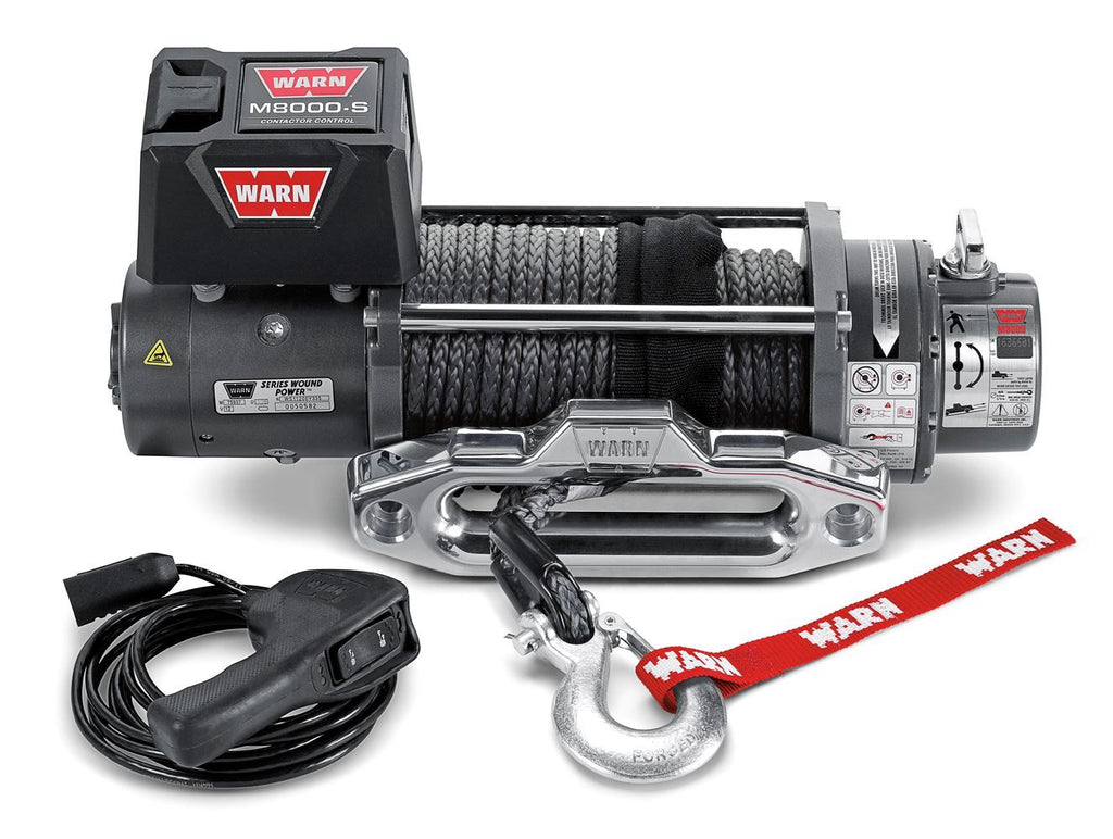 WARN WINCH- M8-S WINCH -87800 - Free Shipping on orders over $100 - Venture Overland Company