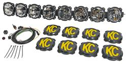 KC HiLiTES® Pro6 8 Light LED Radius Light Bar
