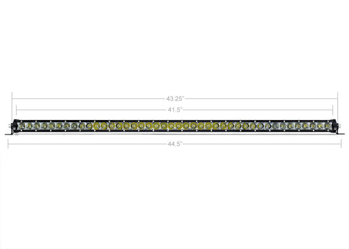 "42"" SLIM SINGLE ROW LED BAR (AMBER)"