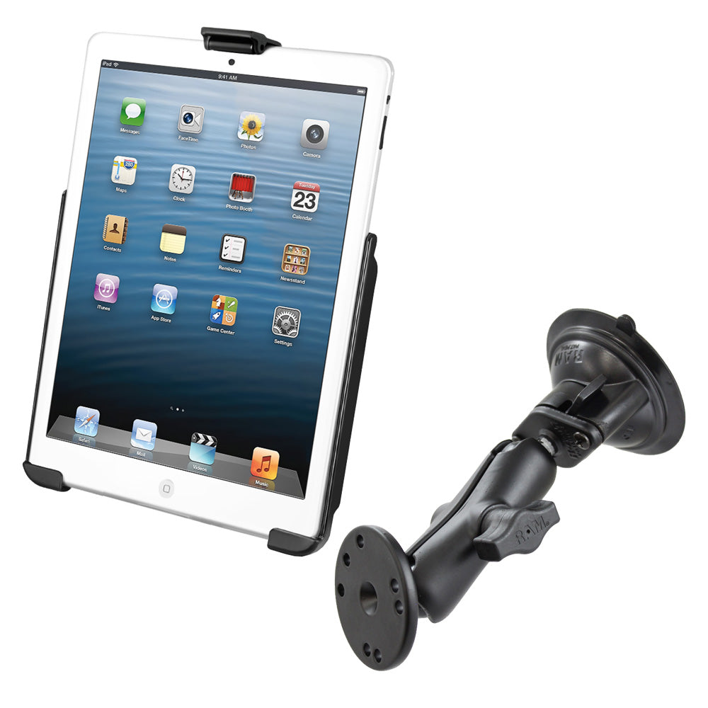 RAM MOUNT SUCTION CUP MOUNT W/APPLE IPAD MINI EZ-ROLL'R CRADLE - Free Shipping on orders over $100 - Venture Overland Company