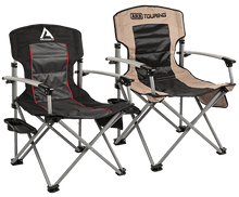 Load image into Gallery viewer, ARB AIR LOCKER CAMP CHAIR WITH SIDE TABLE -BLACK - Free Shipping on orders over $100 - Venture Overland Company