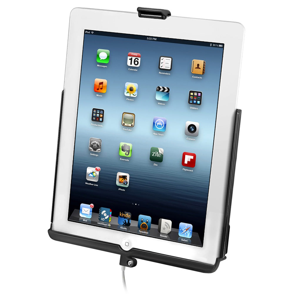 RAM MOUNTS EZ-ROLL'R SYNC CRADLE F/4TH GENERATION APPLE IPAD W/LIGHTNING CONNECTOR - W/O CASE - Free Shipping on orders over $100 - Venture Overland Company