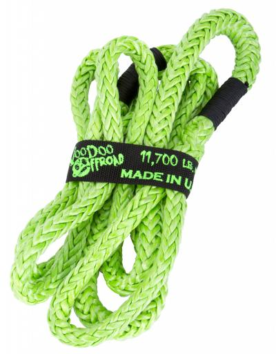 "Voodoo Offroad 1/2"" x 10' UTV Kinetic Recovery Rope- Green - Free Shipping on orders over $100 - Venture Overland Company"