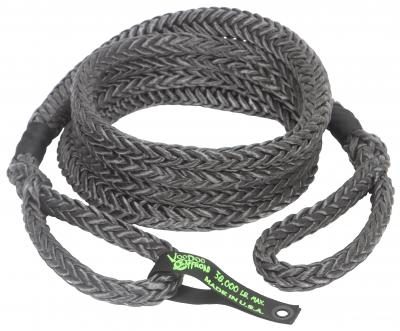 "Voodoo Offroad Truck/Jeep 7/8"" x 20' Kinetic Recovery Rope- Black - Free Shipping on orders over $100 - Venture Overland Company"