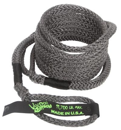 "Voodoo Offroad 1/2"" x 16' UTV Kinetic Recovery Rope- Black - Free Shipping on orders over $100 - Venture Overland Company"