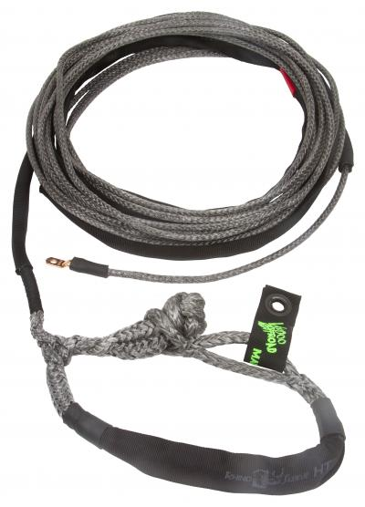 "Voodoo Offroad Jeep/Truck 3/8"" x 80' Winch Line Rope with Soft Shackle End -Black - Free Shipping on orders over $100 - Venture Overland Company"