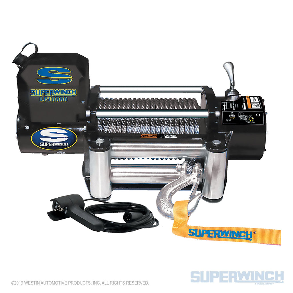 SUPERWINCH LP 10000 12V WINCH - STEEL CABLE - 1510200 - Free Shipping on orders over $100 - Venture Overland Company