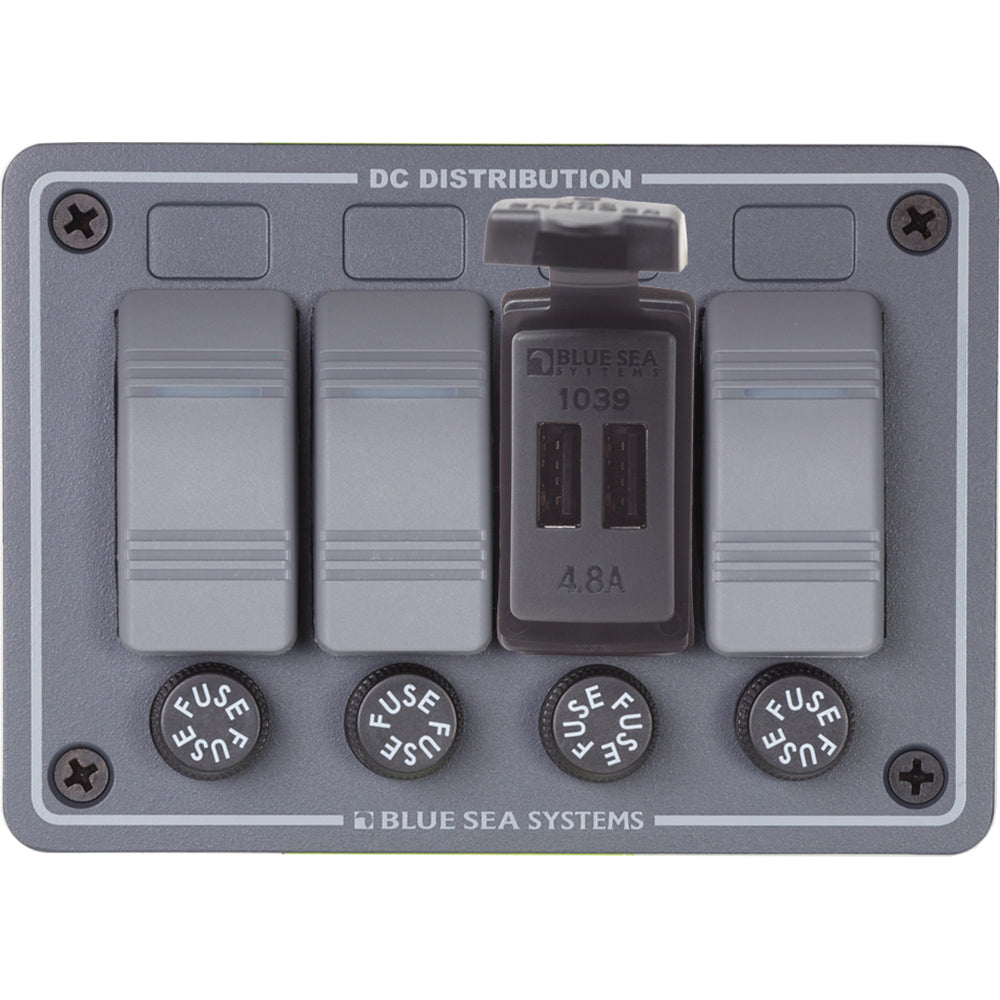 BLUE SEA DUAL USB CHARGER - 24V CONTURA MOUNT - Free Shipping on orders over $100 - Venture Overland Company