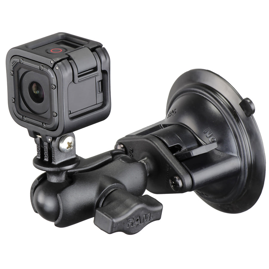 Ram Mount Gopro Hero Short Arm Suction Cup Mount Venture