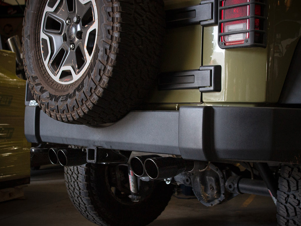 "aFe Power Vulcan Series 2-1/2"" Axle-Back Exhaust System (JK) 07-18 (2/4-Door) - Free Shipping on orders over $100 - Venture Overland Company"