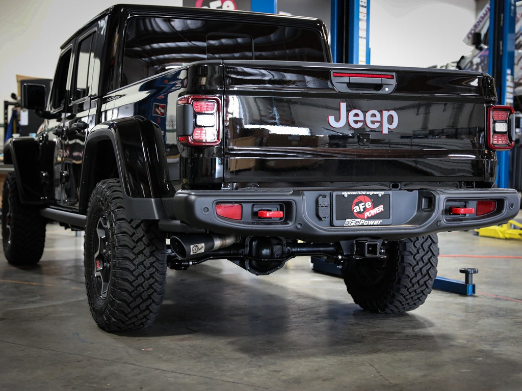 "afe Power Apollo GT Series 3"" 409 Stainless Steel Cat-Back Exhaust System 2020 Jeep Gladiator (JT) V6-3.6L - Free Shipping on orders over $100 - Venture Overland Company"