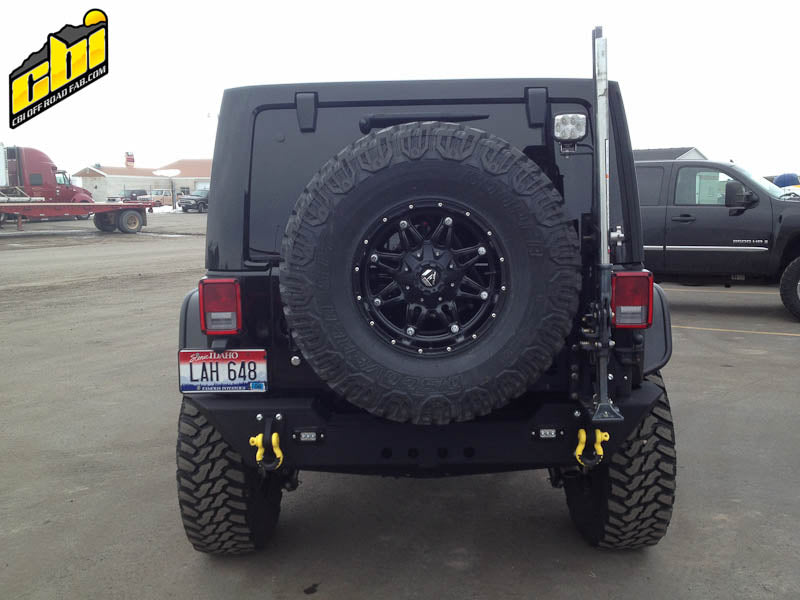 JK Rear Bumper & Swing Away Tire Carrier - Free Shipping on orders over $100 - Venture Overland Company