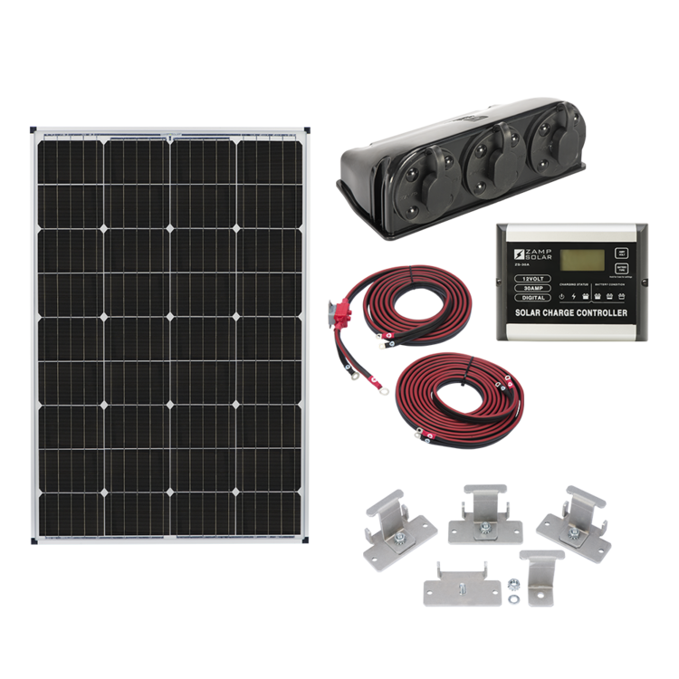 Zamp Solar 115-Watt Roof Mount Kit - Free Shipping on orders over $100 - Venture Overland Company