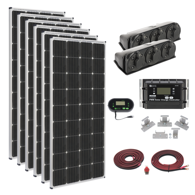 Zamp Solar 1020-Watt Roof Mount Kit - Free Shipping on orders over $100 - Venture Overland Company