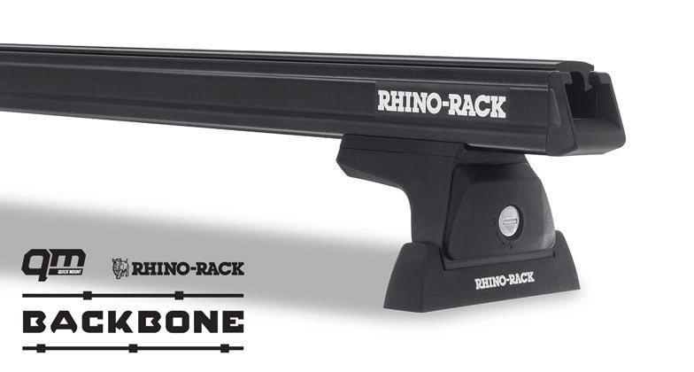 Heavy Duty RLT600 Black 2 Bar Rhino-Rack Backbone Roof Rack  #JA6388