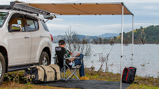 ARB ALUMINIUM TOURING AWNING WITH LIGHT KIT- 2500MM X 2500MM - Free Shipping on orders over $100 - Venture Overland Company