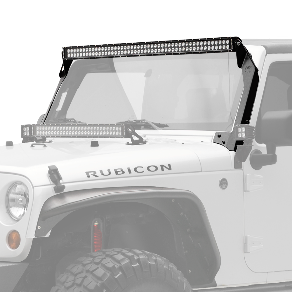 "KC HiLiTES 50"" C-SERIES C50 LED - LIGHT BAR SYSTEM - 300W COMBO SPOT / SPREAD BEAM - FOR 07-18 JEEP JK - Free Shipping on orders over $100 - Venture Overland Company"