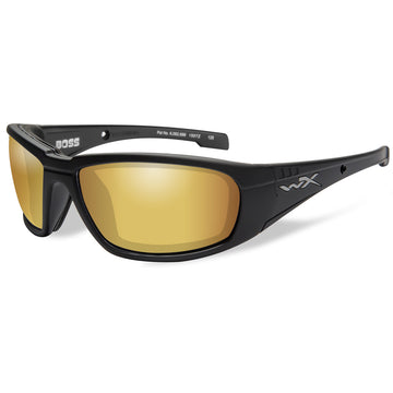 Boss Polarized Venice Sunglasses - Gold Mirror Lens - Matte Black Frame