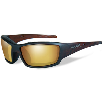 Tide Polarized Venice Sunglasses - Gold Mirror Lens - Matte Brown Frame