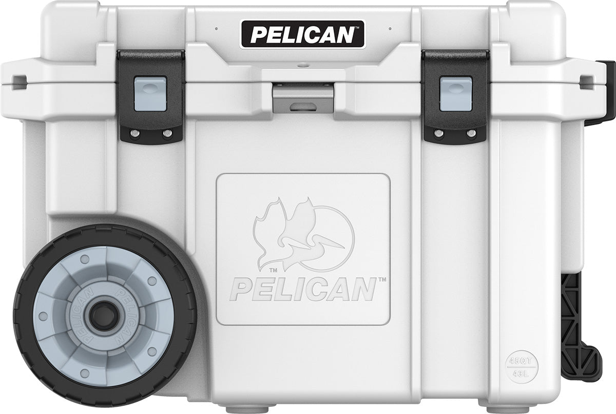 Pelican 45QW Elite Wheeled Coolers- White