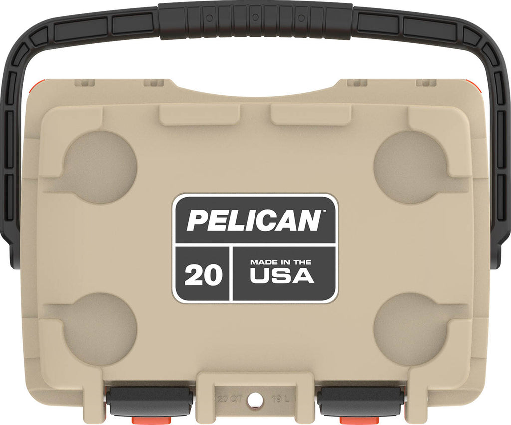 Pelican 20QT Elite Coolers -Tan/Orange - Free Shipping on orders over $100 - Venture Overland Company