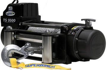 SUPERWINCH TIGER SHARK 9500 12V WINCH - STEEL ROPE - 1595200