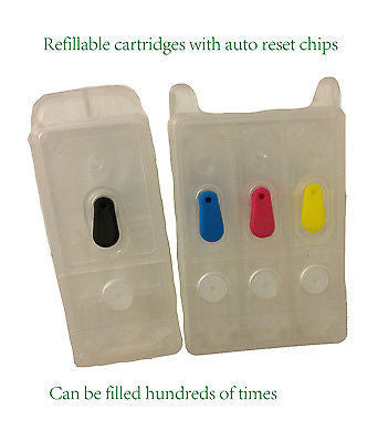 EMPTY set of refillable t040 t041 ink cartridges for Epson stylus CX3200 C62