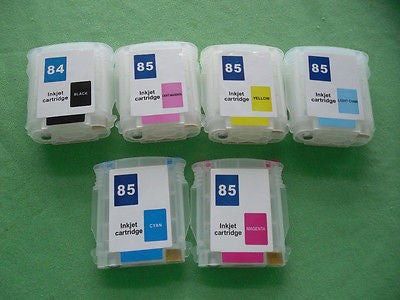 Empty refillable cartridges for HP 84 85 DesignJet 30 30n 90 130gp 130nr 130r